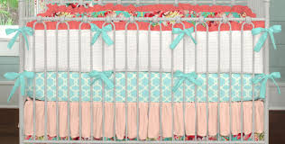 Coral And Mint Crib Bedding by Teal And Coral Bedding Bedding Grey And Teal Elephant Crib