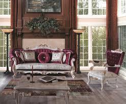 casa padrino luxus barock wohnzimmer set purpur creme gold 2 sofas 2 sessel 1 couchtisch prunkvolle möbel im barockstil