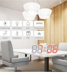 großhandel 3d led wanduhr modern design digitale tischuhr alarm nachtlicht saat reloj de pared uhr für wohnzimmer dekoration desppd 11 61 auf
