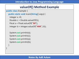 introduction to java programming lecture no 8