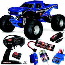 100 Monster Truck Nitro 2 Traxxas 110 Bigfoot RTR Blue W4GHz Radio Battery