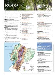 Ecuador And Galapagos Travel Guide 48pages