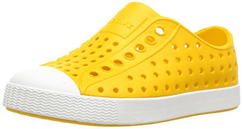 Native Little Kids' Crayon Yellow/Shell White Jefferson Shoes - 7
