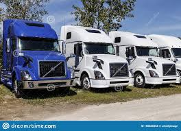 100 Cheap Semi Trucks For Sale Volvo Tractor Trailer Lined Up Volvo