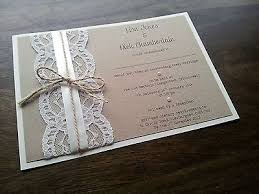 Handmade Vintage Shabby Chic Rustic Lace And Twine Wedding Invitation In Home Furniture DIY