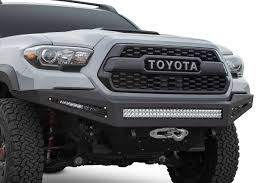 Tacoma Bumper: Shop Toyota Tacoma HoneyBadger Front Bumper Amazoncom Addictive Desert Designs F7142590103 Venom Front Toyota Tacoma Winch Bumper 19952004 Shop Honeybadger Gen 3 2016 Mount For 4th Generation 052014 8994 Truck Plate Style Rear Bumpers Pavement Sucks Your 1982 Pickup Dom Pipe Pirate4x4com 4x4 And Off Pure Accsories Parts Your 2018 Tundra Equipped With Our 052015 Mobtown Offroad F753842940103 072013