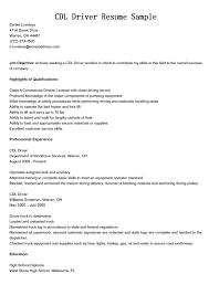 100 Cdl Trucking Jobs Truck Driver Resume Sample Examples Class Job Description For