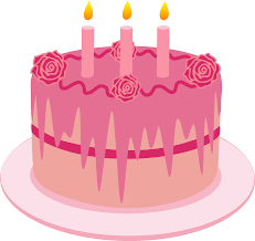 Strawberry Birthday Cake With Candles Free Clip Art