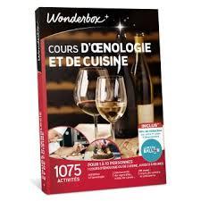 smartbox cours de cuisine coffret cadeau wonderbox cours d œnologie et de cuisine coffrets