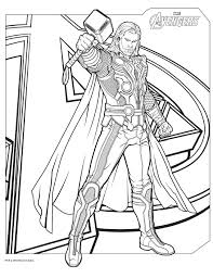Full Size Of Coloring Pagesfancy Avengers Printable Pages The Thor Large