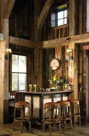 Rustic Bar Lights Ideas Home With Exposed Beams Wall Lighting High Ceilings