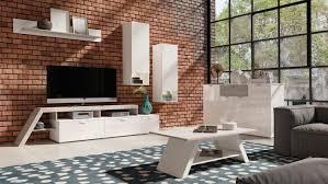 glastisch wohnzimmer höhenverstellbar couchtisch rund weiß