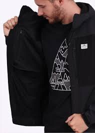 penfield swift hooded soft shell jacket black