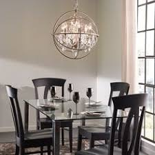 2 Kitchen Pendants Kichler Lighting 1902 In 6 Light Brushed Nickel Crystal Globe Chandelier