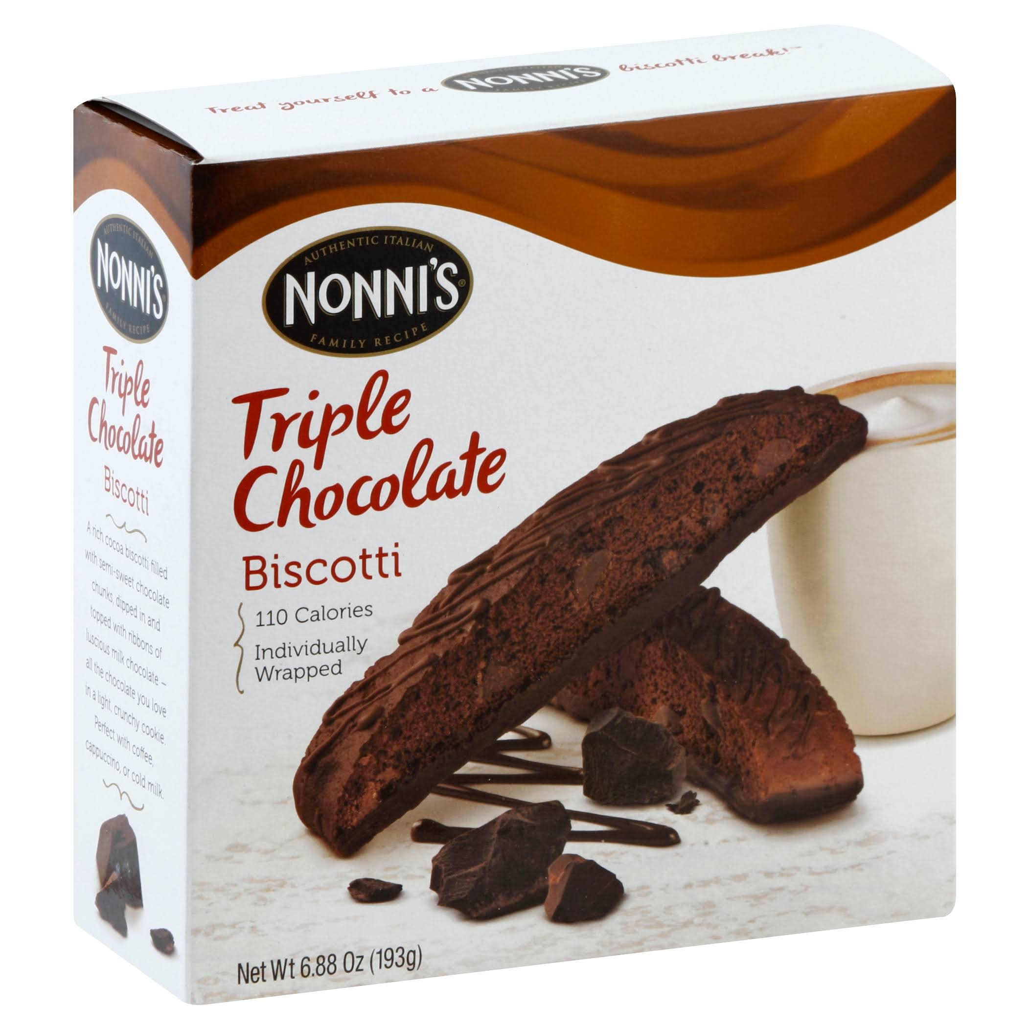 Nonnis Biscotti Triple Chocolate - 6.8oz, 8ct