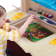 Toddler Art Desk And Chair by Step2 Deluxe Art Master Desk With Chair Toys