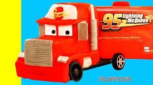 Cars Lightning McQueen Mack Truck! Disney Cars Stop Motion Video ...