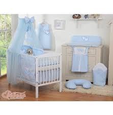 tour de lit bebe garon pas cher parure lit bébé pas cher complète garçon bleue coeus 12 pièces