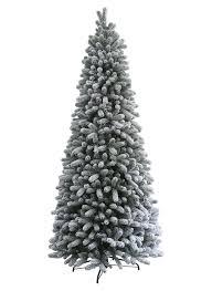 9 Foot King Flock Slim Artificial Christmas Tree Unlit