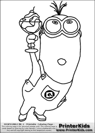Coloring Sheet Minion Purple Minions Pages