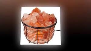 Himalayan Ionic Salt Lamp by Best Buy Himalayan Tall Basket Salt Lamp Youtube