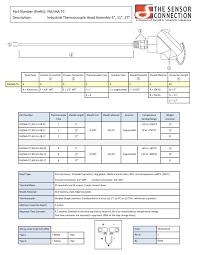 sensor probe industrial assembly type j