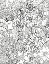 Related Coloring Pages Flower Garden Front Of The Home