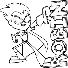 Teen Titans Go Robin Coloring Pages