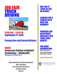 Lewisburg, Tennessee: Truck Driving Job Fair, TCAT-S Meeting ... Experienced Cdl Truck Drivers Job Rources Roehljobs Driver Who Smashed Into Nashville Overpass Lacked Permit For Dot Application Ms La Al Tn Ar Century Trucking Jobs In Tn Best 2018 Fedex Memphis Resource Eagle Transport Cporation Transporting Petroleum Chemicals Intermodal Cartage Group Employment Plus Hiring Cdla Team Career News From Driving Chattanooga Tennessee Knoxville Area Testimonials Drive Train