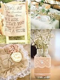 Used Burlap And Lace Wedding Decorations For Sale Bridal Shower Favors Centerpieces