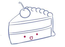 Drawn cake cute cake 3