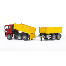 Bruder MAN Construction Truck With Trailer - Bruder Toys America ...
