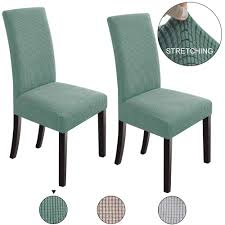 NORTHERN BROTHERS Dining Chair Covers Stretch Chair Covers Parsons Chair  Slipcover Chair Covers For Dining Room (Dark Cyan, 2) Xiazuo Ding Chair Slipcovers Stretch Removable Covers Set Of 6 Washable Protector For Room Hotel Banquet Ceremonywedding Subrtex Sets Fniture Armchair Elastic Parsons Seat Case Restaurant Breathtaking Your Home Idea How To Sew A Slipcover The Ikea Henriksdal Hong Elegant Spandex Chairs Office Grey 4 Chun Yi Waterproof Jacquard Polyester Small Checks Antistain 2 Linen Store Luxurious Damask Cover Form Fitting Soft Parson Clothman Printed High Elasticity Fashion Plaid Kitchen 4coffee Subrtex Dyed Pieces Camel Leanking Knit Fabric Decor Beige Pcs Leaf Stretchable 1 Piece Yellow