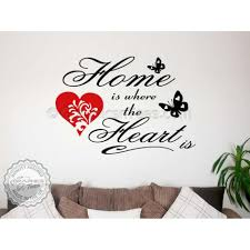 Home Is Where The Heart Family Wall Art Sticker Quote Vinyl Decor Signs Decal