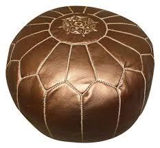 pouf marocain de marrakech sélection de poufs marocains cuir fait