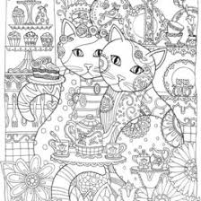 Cat Coloring Pages For Adults Cat Coloring Pages For Adults In