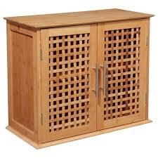 bambou badezimmerschrank aus bambus 2 ebenen geschlossen emako
