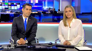 Hayley McQueen Sky Sports News Flashes Bra