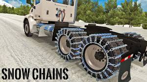 ATS Snow Chains Mod - YouTube