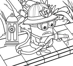 Free Printable Coloring Pages Mickey Mouse Clubhouse Firefighter Fighting Attire Fireman Wardrobe Minion Cars And Trucks