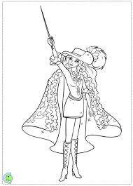 Barbie And Three Musketeers Coloring Pages For Kids