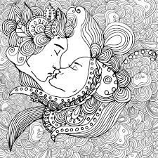 Beauty In Love Coloring Page