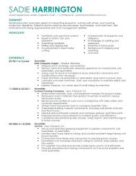 Production Worker Resume Present Vision The Best For You Line