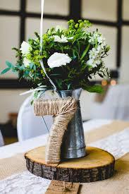 Stylish Relaxed Fun White Wedding Winter CenterpiecesWedding Table