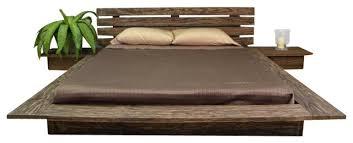 Tansu Delta Distressed Finish Platform Bed & Reviews