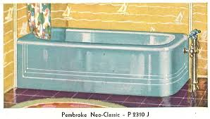 Sinking In The Bathtub 1930 by Vintage Blue Bathroom Colors From Seven Manufacturers From 1927 To