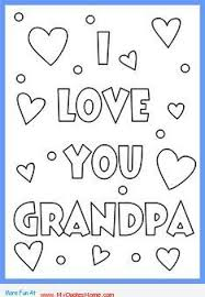 Happy Birthday Grandpa Coloring Pages 2 DADGRANDPA Printable Cards