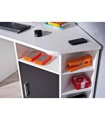 bureau d angle design blanc bureau d angle design très tendance coloris blanc et noir