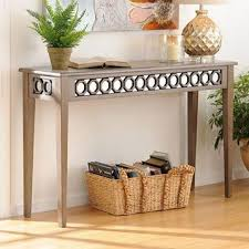 octagon gray console table