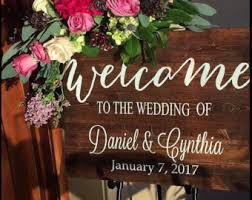 Rustic Wedding Welcome Sign Wood Decor Country Bestseller